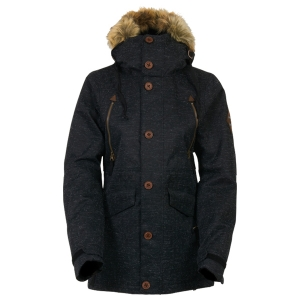 686 보드복 1516 686 Wmn PARKLAN Ceremony Insulated Jacket-Black Wood Like Denim 여성 686보드자켓