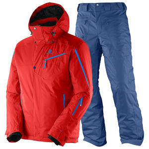 살로몬 스키복 SALOMON SUPERNOVA JKT+RESPONSE PNT(MATADOR-X+MIDNIGHT BLUE)