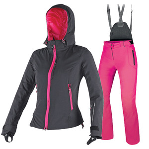 다이네즈 여성 스키복 1516 DAINESE NEREIDE D-DRY JACKET LADY + LADIES SUPREME PANTS E2 (BK/FU-PU+FU-PURPLE)