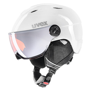 유아스키헬멧 uvex junior visor pro white-grey