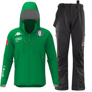 카파스키복 1718 ITALY SKI TEAM MEN PADDING SET GREEN