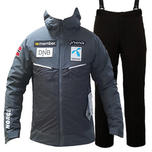 스키복 1718 PHENIX NORWAY TEAM HYBRID DOWN JACKET CG+SMU NORWAY TEAM PANTS