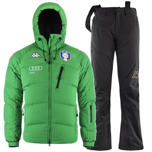 카파 스키복 1718 KAPPA FISI UNISEX DOWN SET GREEN