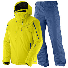 살로몬 스키복 15/16 SALOMON SUPERNOVA JKT+RESPONSE PNT(LIGHT ALPHA YELLOW+MIDNIGHT BLUE)