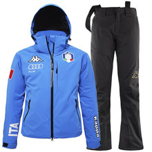카파스키복 1718 ITALY SKI TEAM WOMEN PADDING SET BLUE
